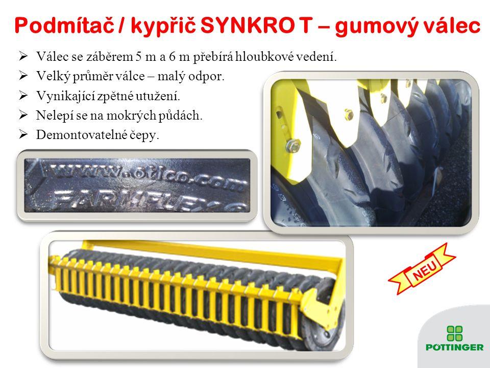 Podmítač / kypřič SYNKRO T – gumový válec