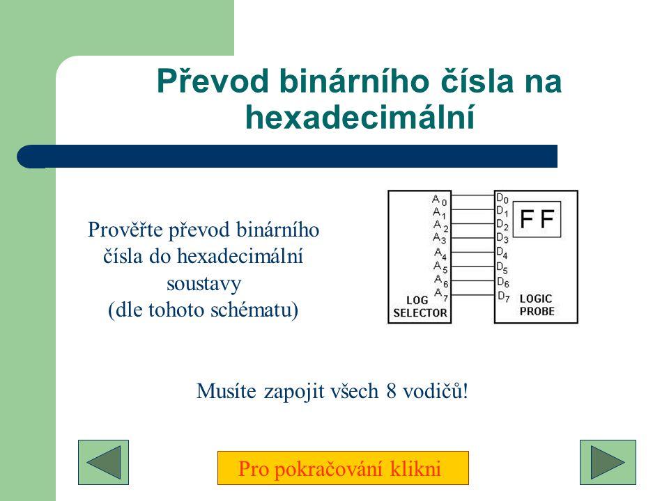 Převod binárního čísla na hexadecimální