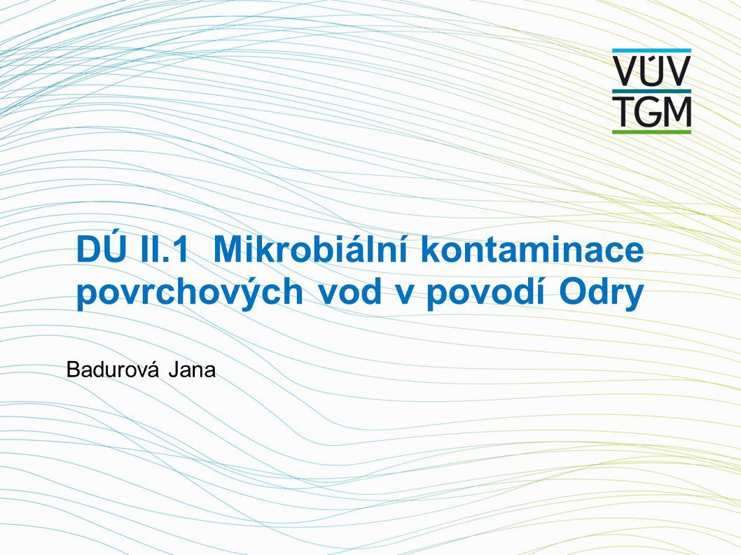 DÚ II.1 Mikrobiální kontaminace povrchových vod v povodí Odry