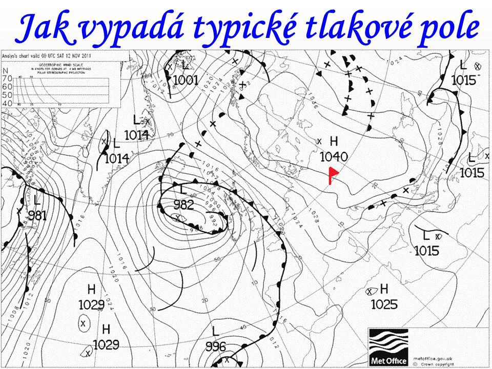 Jak vypadá typické tlakové pole