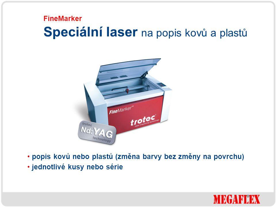 Speciální laser na popis kovů a plastů