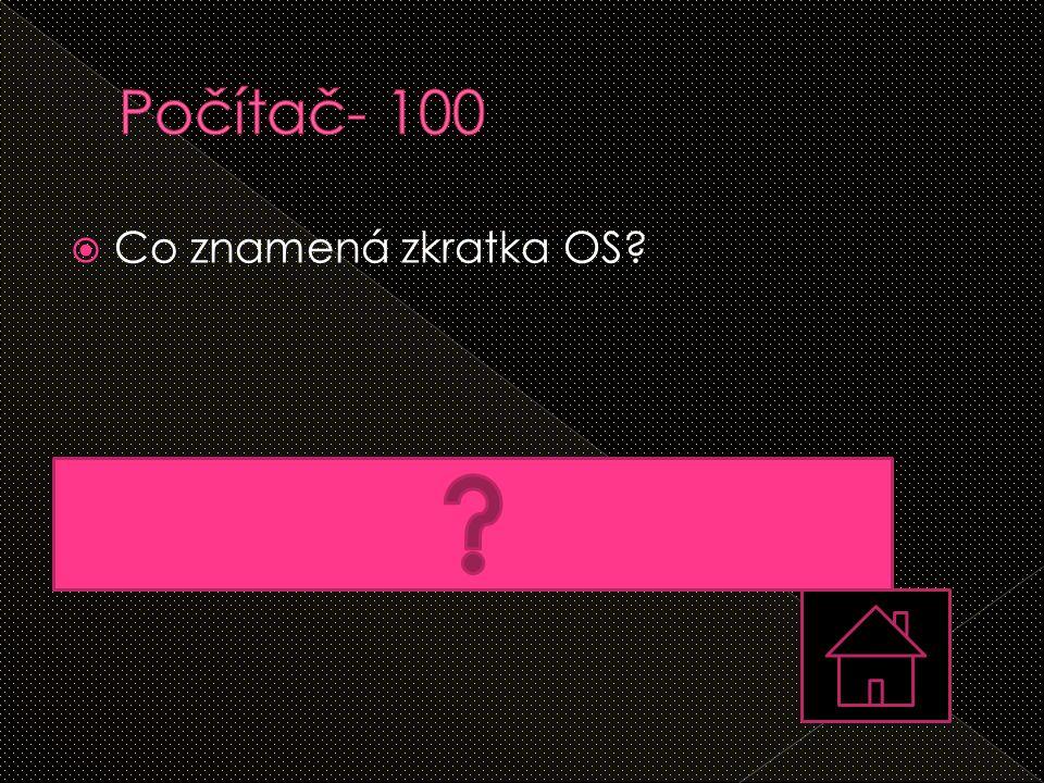 Počítač- 100 Co znamená zkratka OS