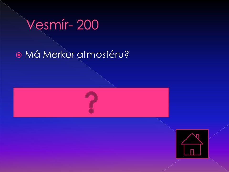Vesmír- 200 Má Merkur atmosféru