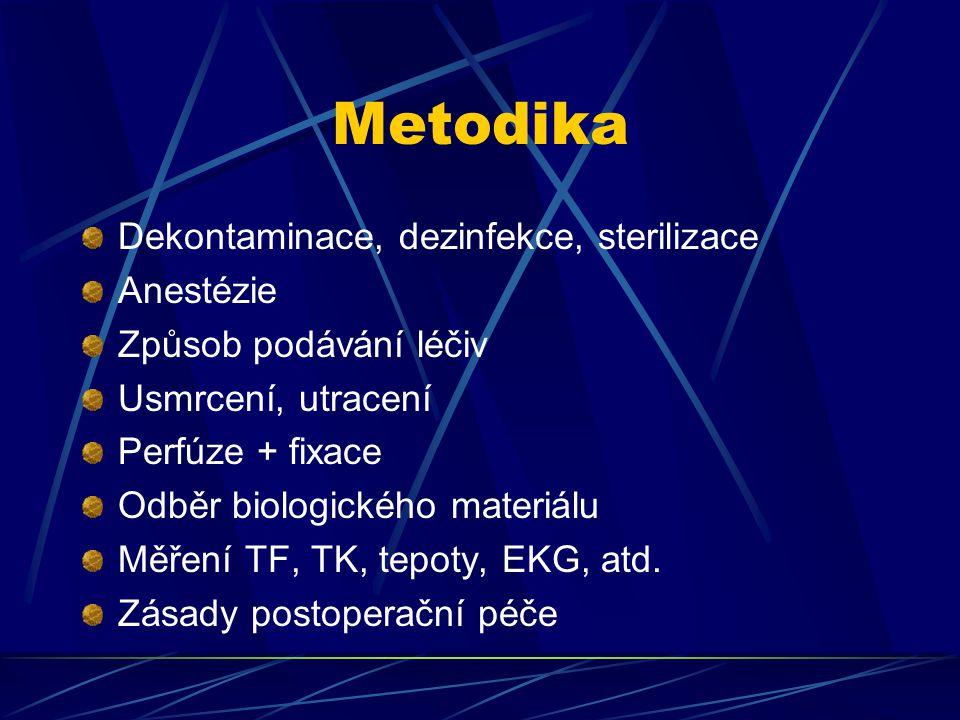 Metodika Dekontaminace, dezinfekce, sterilizace Anestézie