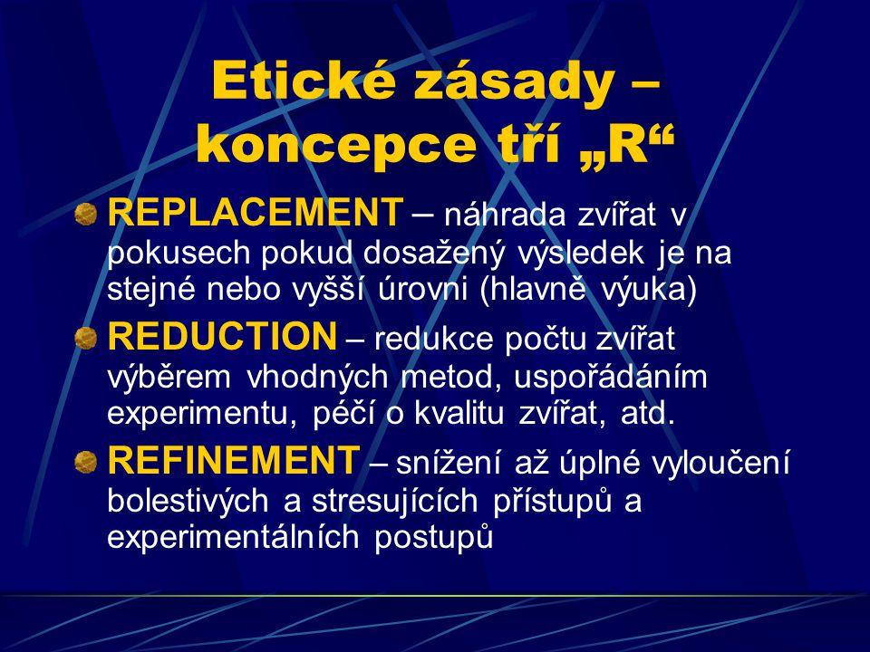 """Etické zásady – koncepce tří """"R"""