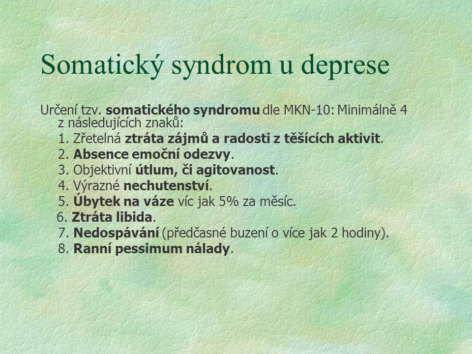 Somatický syndrom u deprese