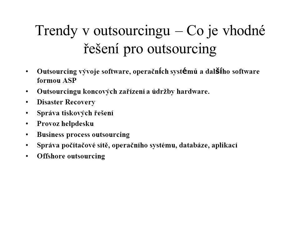 Trendy v outsourcingu – Co je vhodné řešení pro outsourcing
