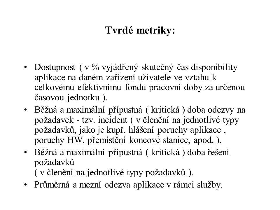 Tvrdé metriky: