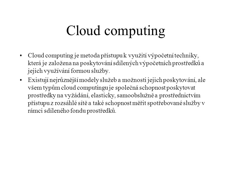 Cloud computing 48.