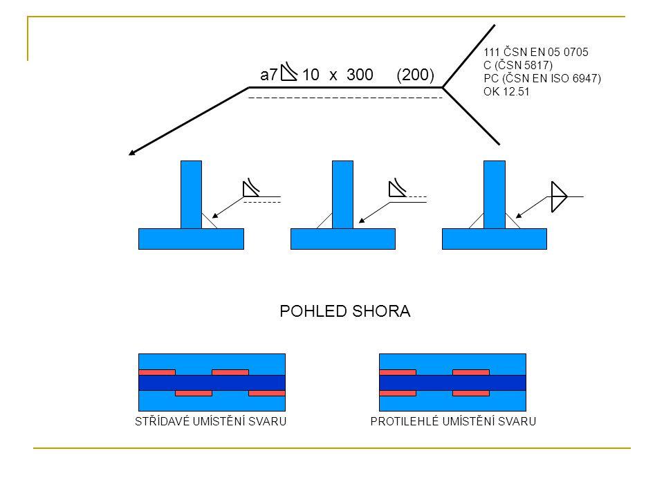 a7 10 x 300 (200) POHLED SHORA 111 ČSN EN 05 0705 C (ČSN 5817)
