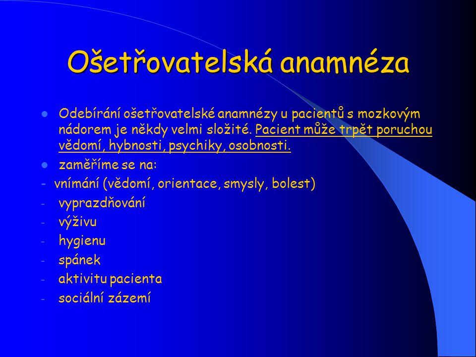 Ošetřovatelská anamnéza