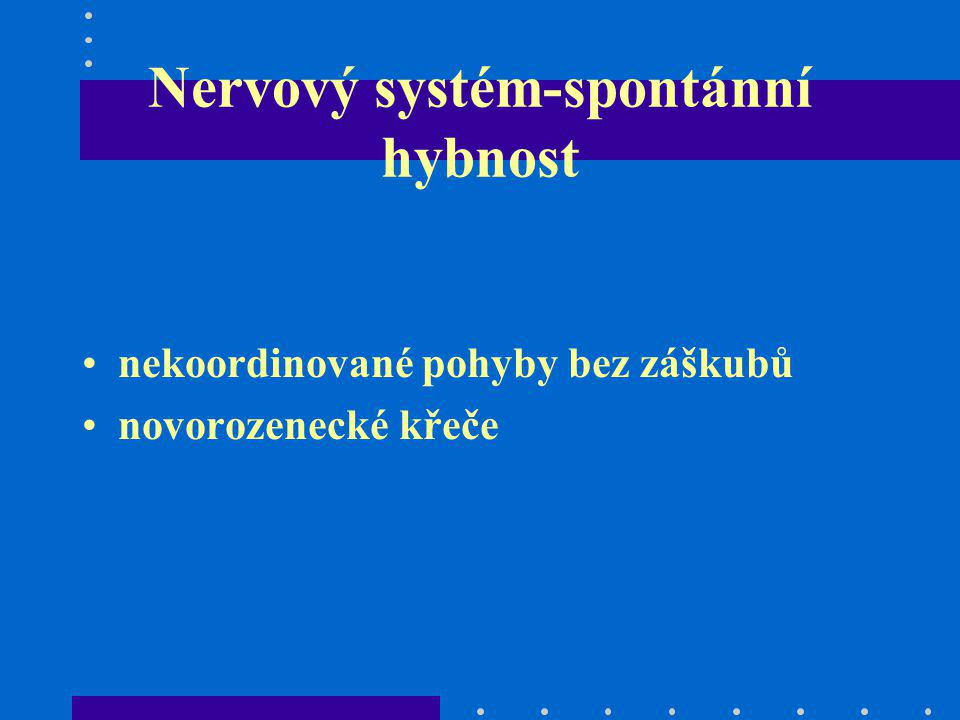 Nervový systém-spontánní hybnost