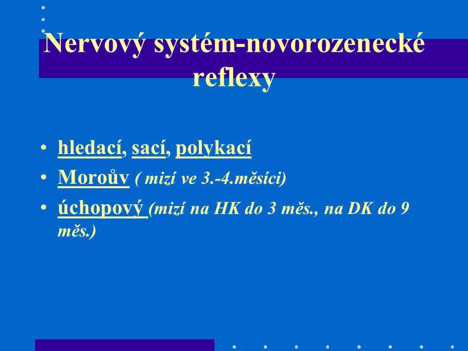 Nervový systém-novorozenecké reflexy
