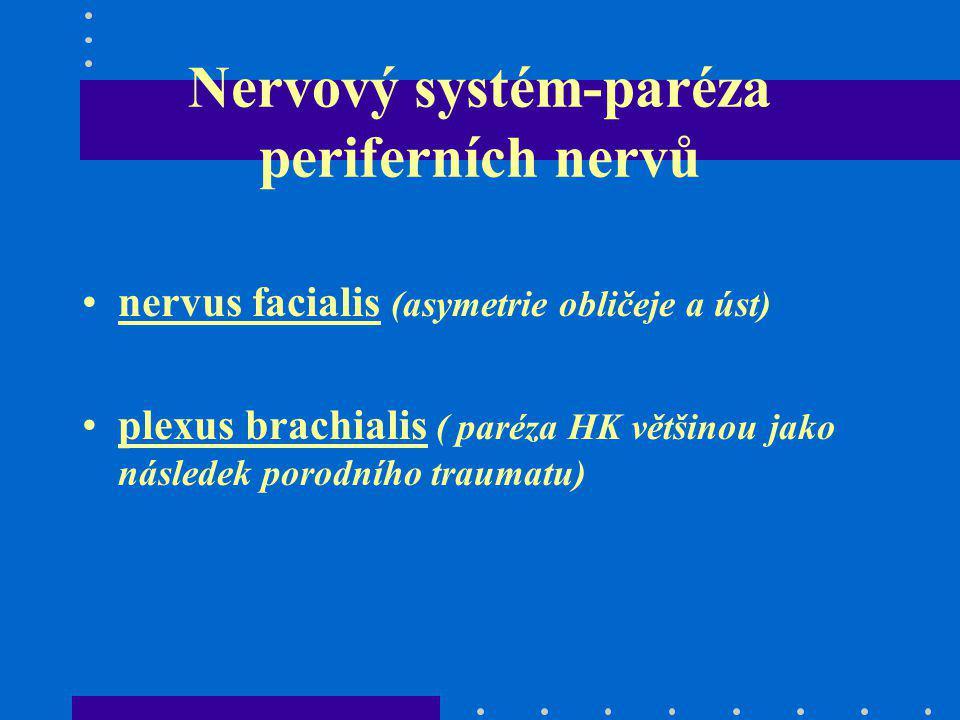 Nervový systém-paréza periferních nervů