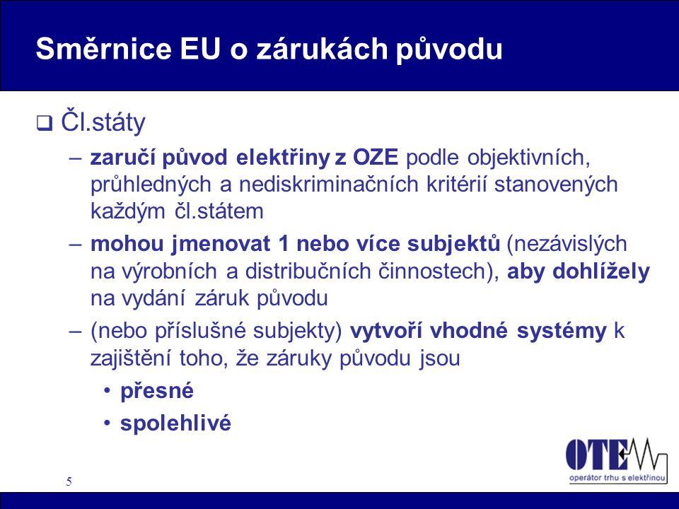 Směrnice EU o zárukách původu