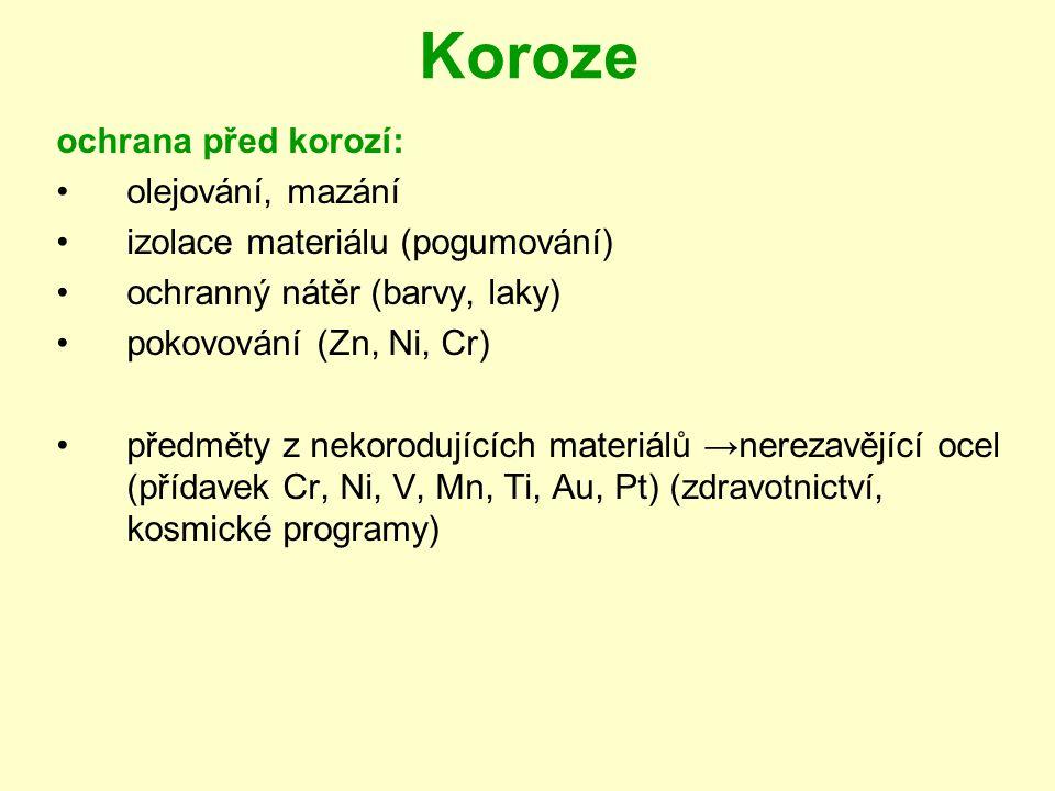 Koroze ochrana před korozí: olejování, mazání