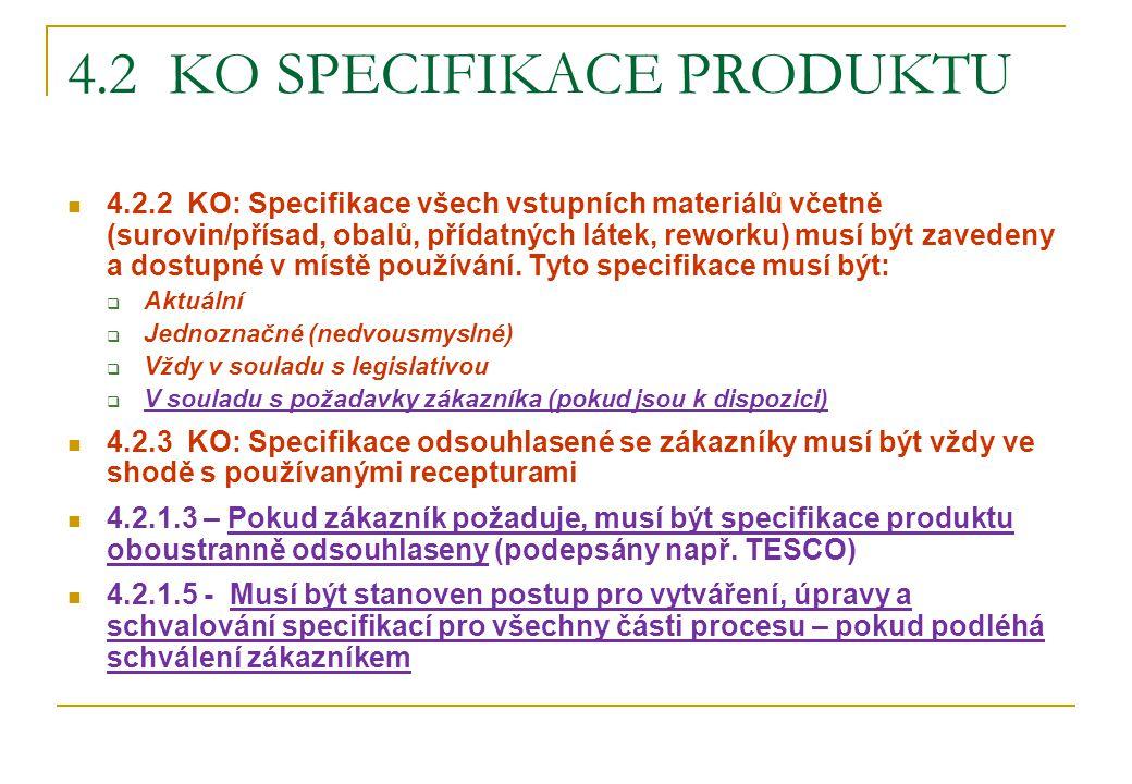 4.2 ko Specifikace produktu