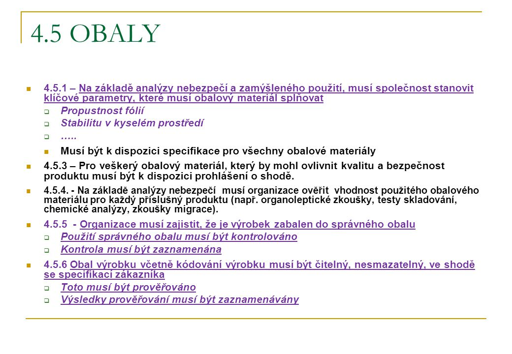 4.5 OBALY