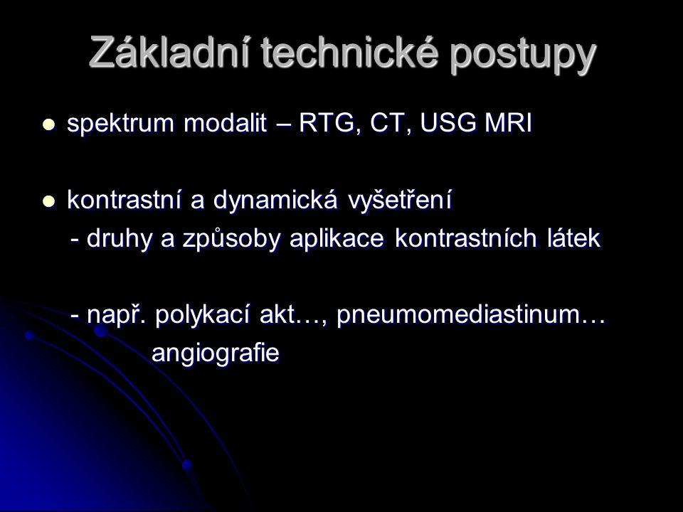 Základní technické postupy