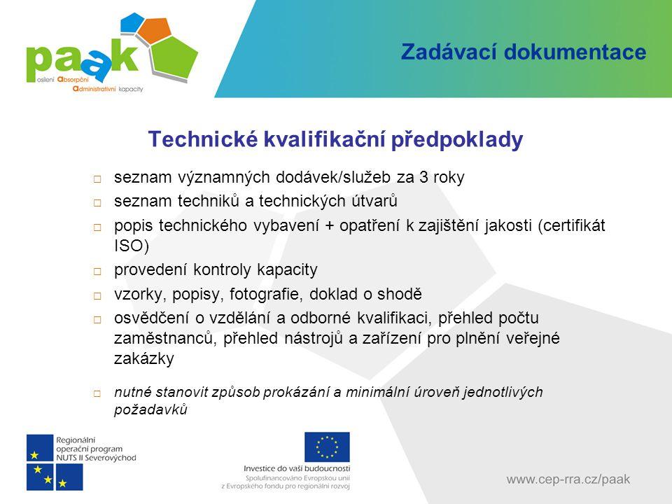 Technické kvalifikační předpoklady