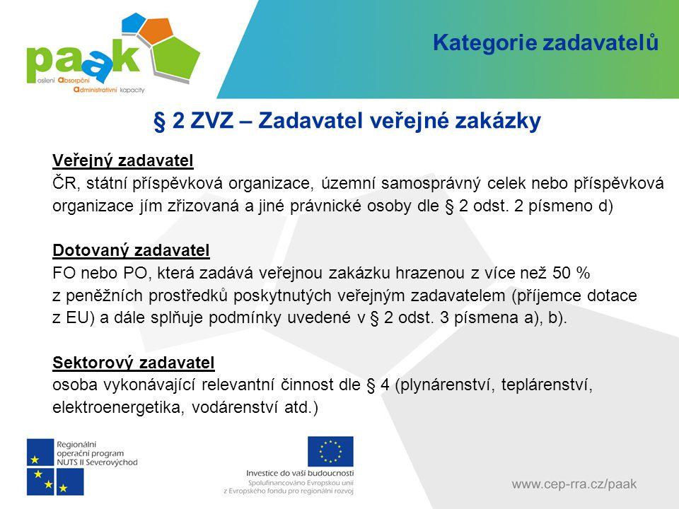 § 2 ZVZ – Zadavatel veřejné zakázky