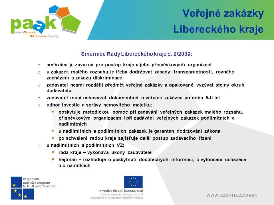 Veřejné zakázky Libereckého kraje