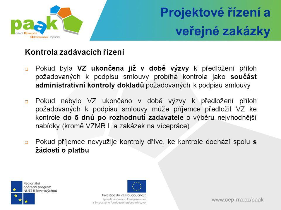 Projektové řízení a veřejné zakázky