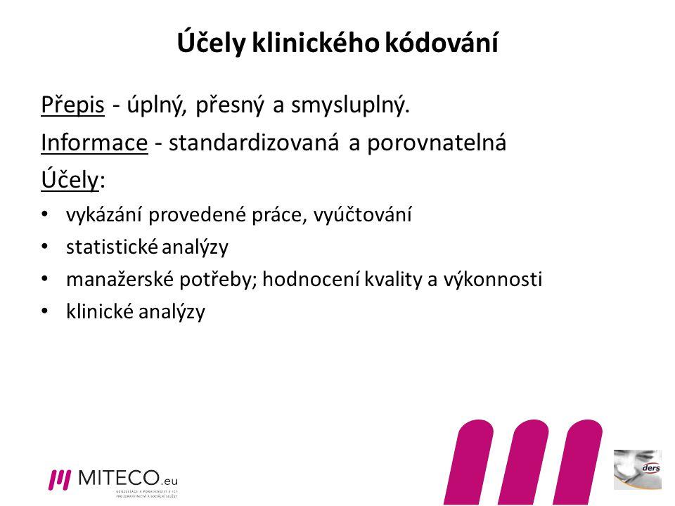 Účely klinického kódování