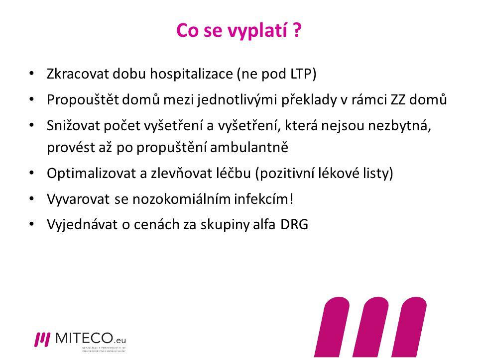 Co se vyplatí Zkracovat dobu hospitalizace (ne pod LTP)