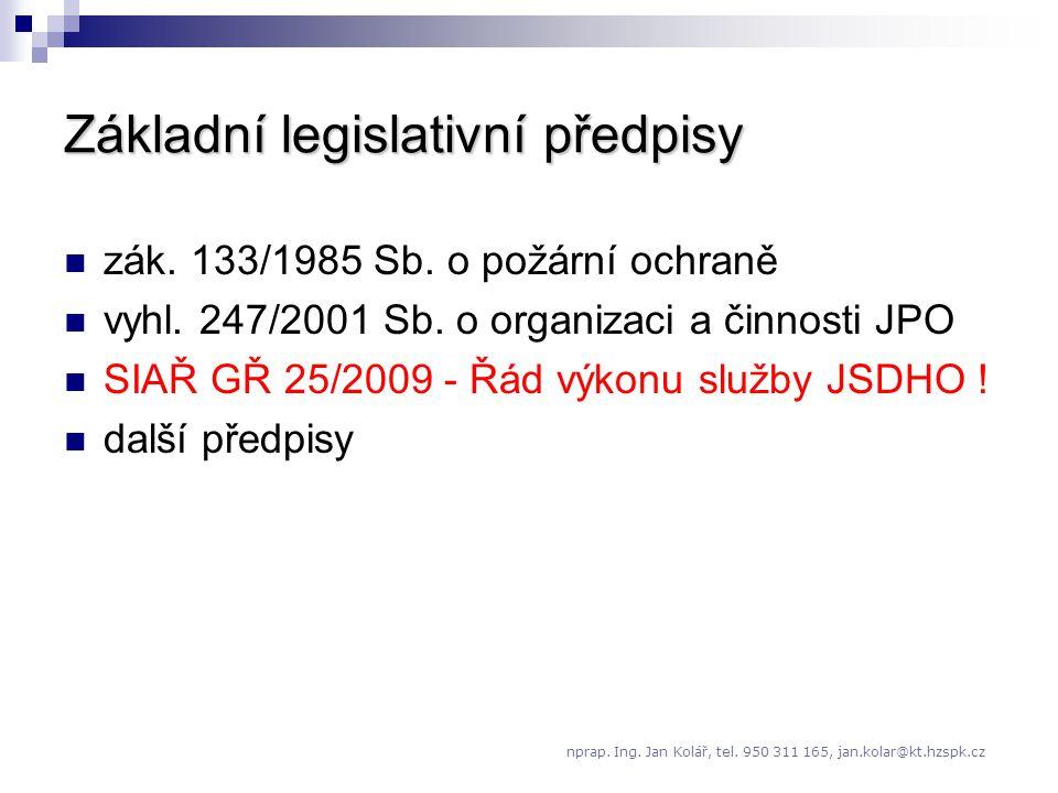 Základní legislativní předpisy