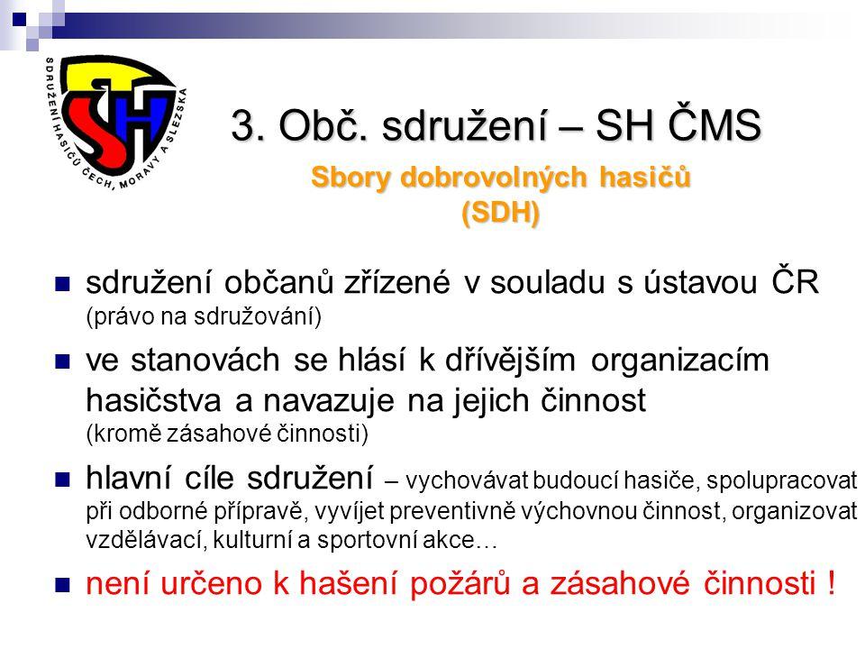 Sbory dobrovolných hasičů (SDH)
