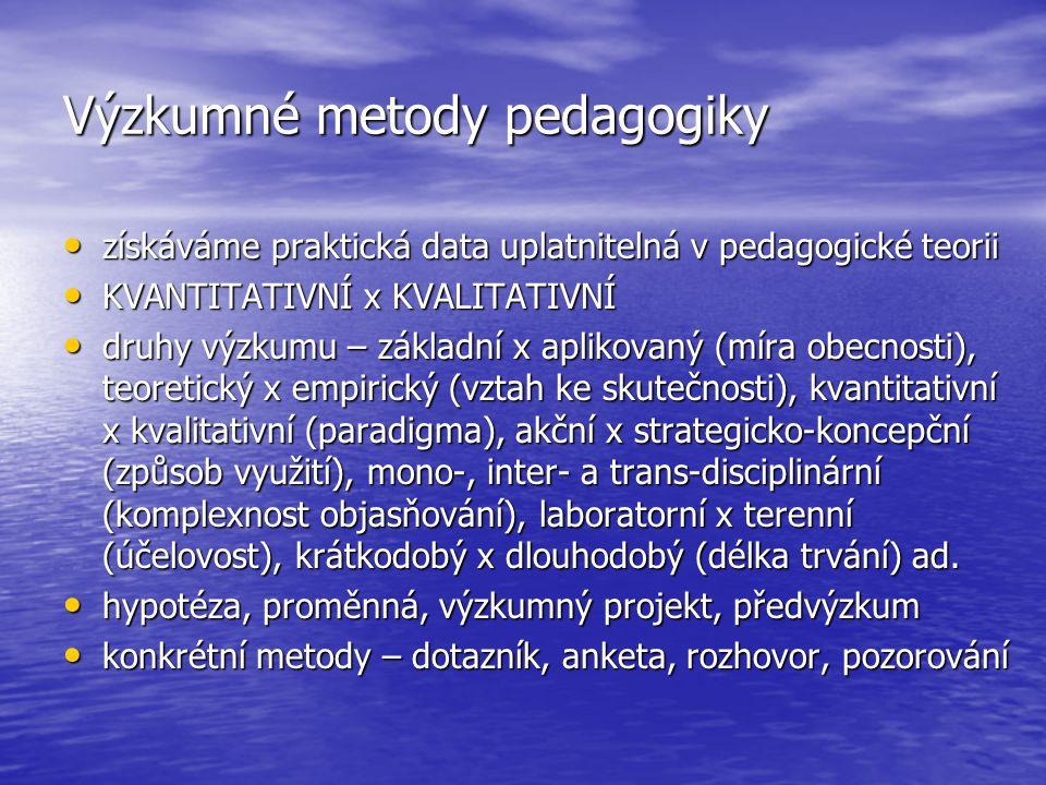 Výzkumné metody pedagogiky