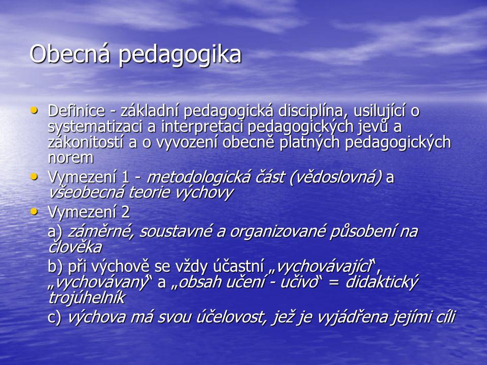 Obecná pedagogika