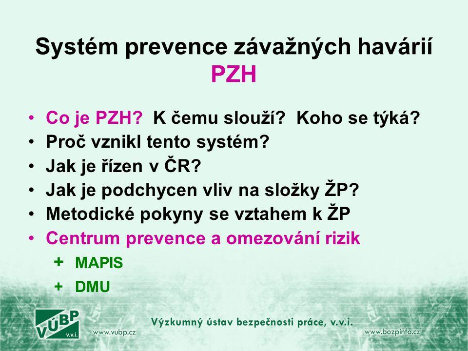 Systém prevence závažných havárií PZH