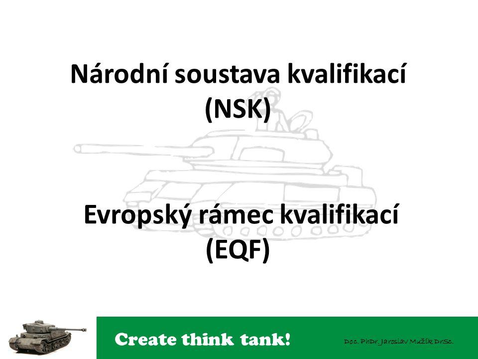 Národní soustava kvalifikací (NSK) Evropský rámec kvalifikací (EQF)