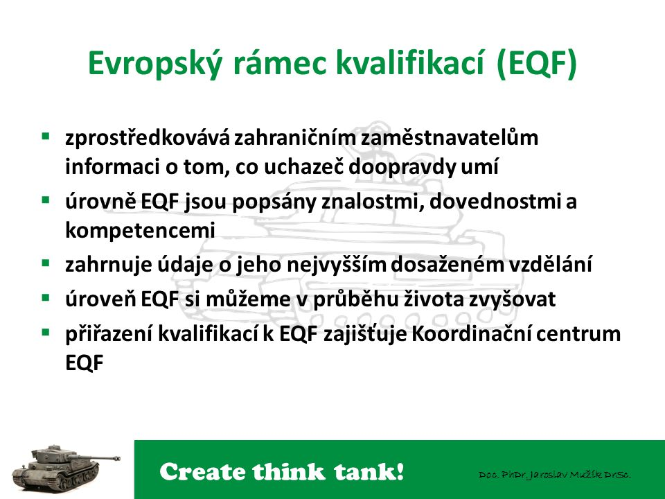 Evropský rámec kvalifikací (EQF)