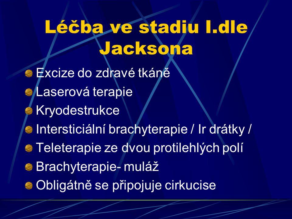 Léčba ve stadiu I.dle Jacksona