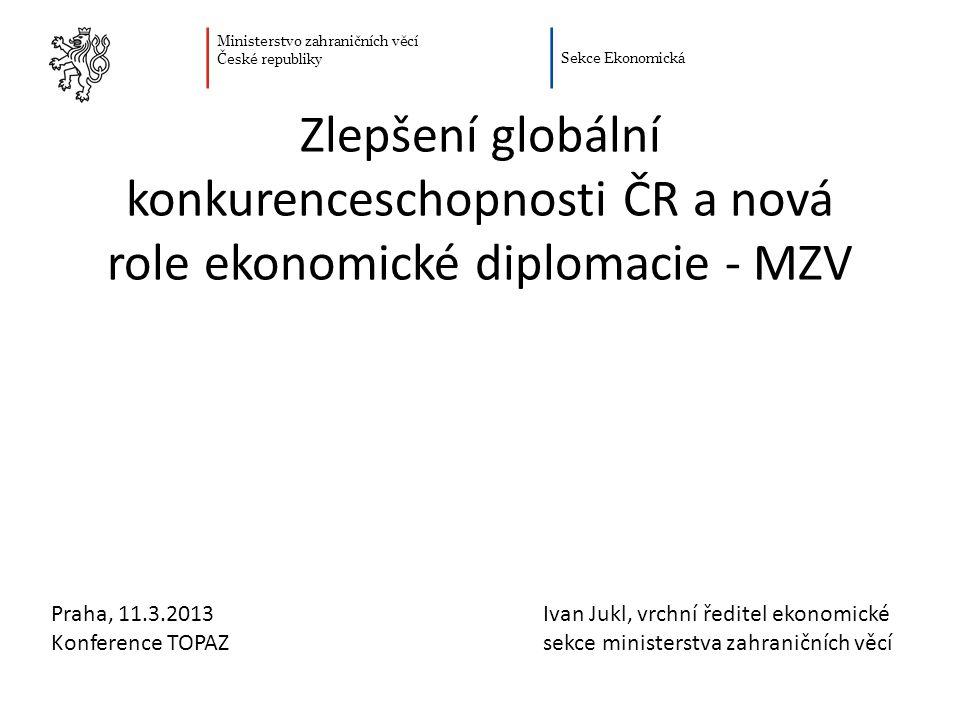 Zlepšení globální konkurenceschopnosti ČR a nová role ekonomické diplomacie - MZV
