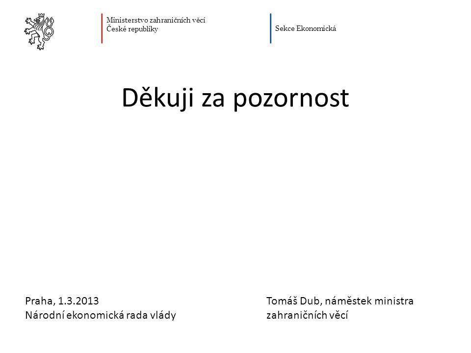 Děkuji za pozornost Praha, 1.3.2013