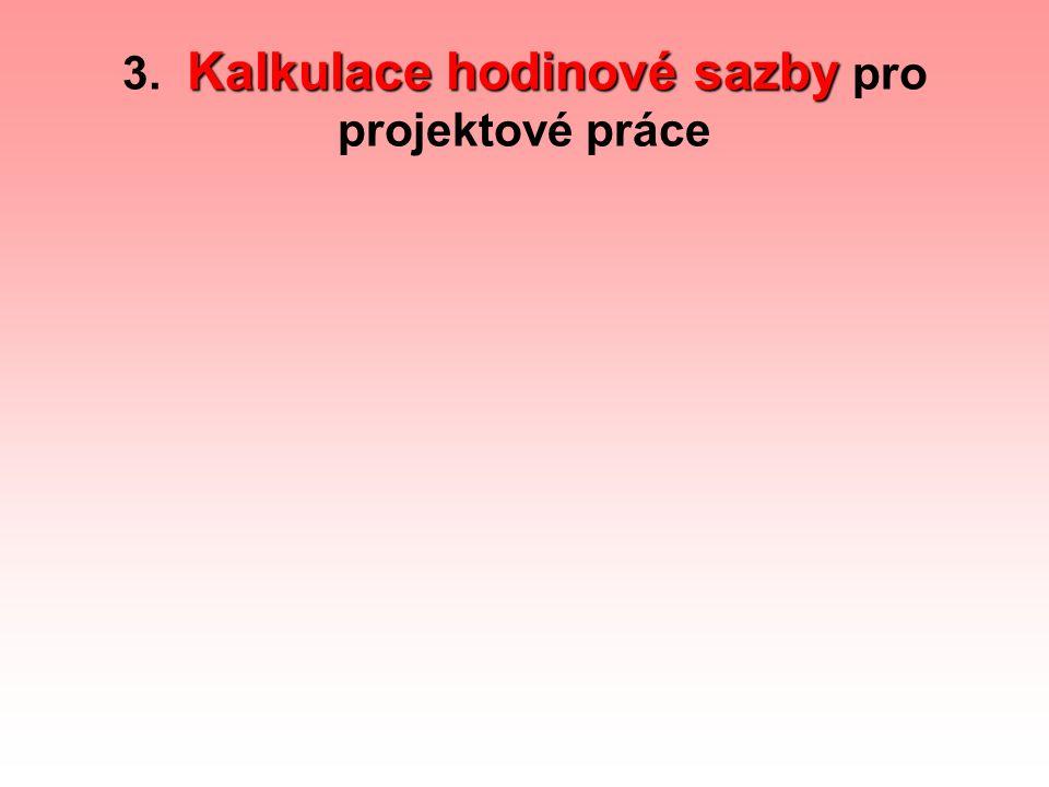 3. Kalkulace hodinové sazby pro projektové práce