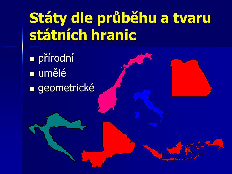 Státy dle průběhu a tvaru státních hranic