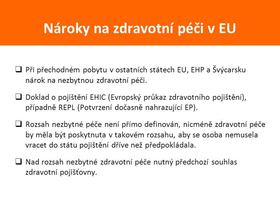 Nároky na zdravotní péči v EU