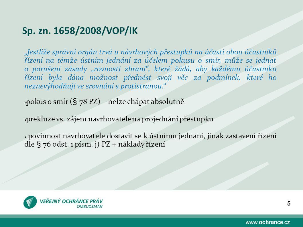 Sp. zn. 1658/2008/VOP/IK
