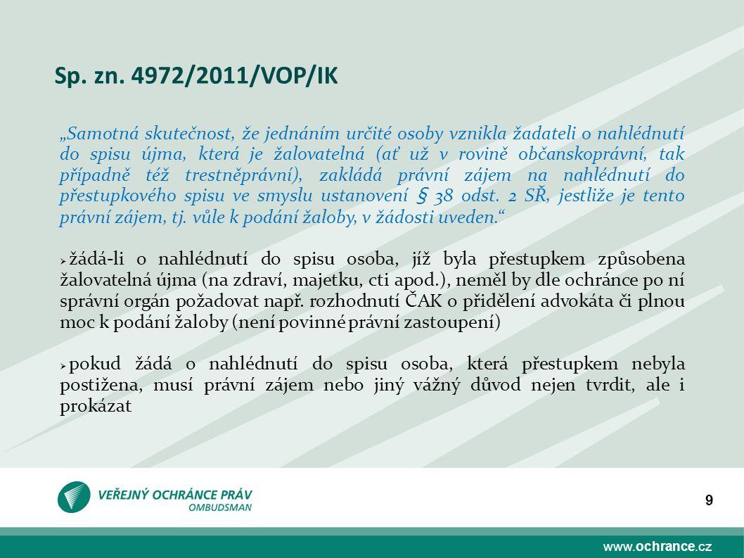 Sp. zn. 4972/2011/VOP/IK