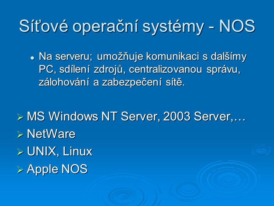Síťové operační systémy - NOS