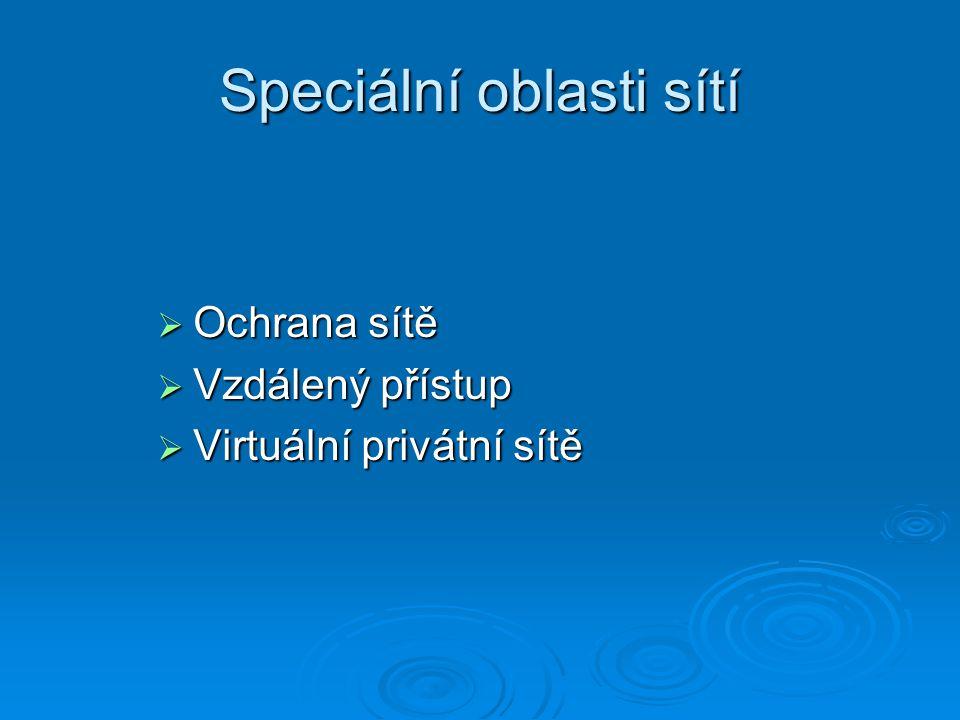 Speciální oblasti sítí