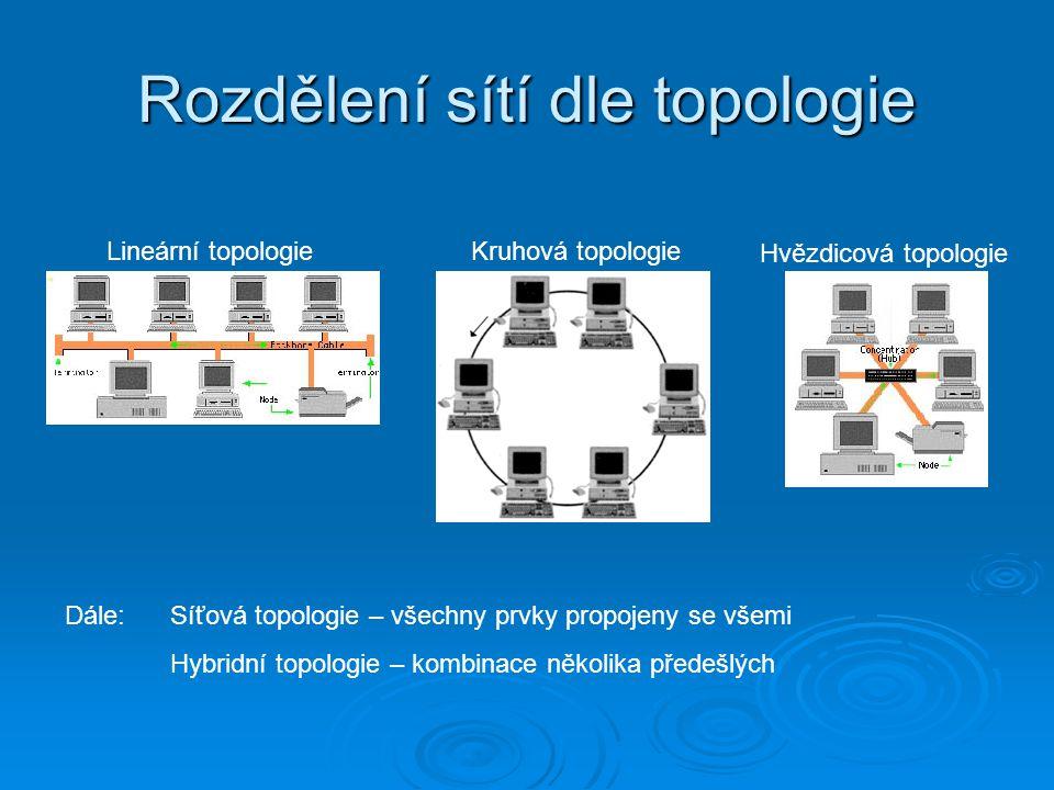 Rozdělení sítí dle topologie