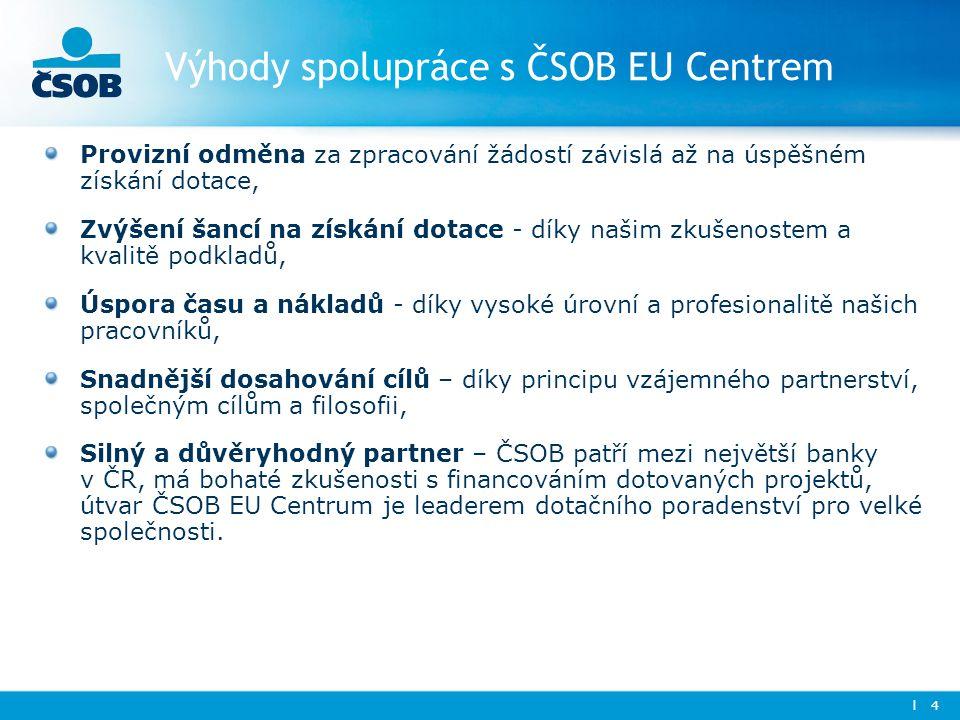 Výhody spolupráce s ČSOB EU Centrem