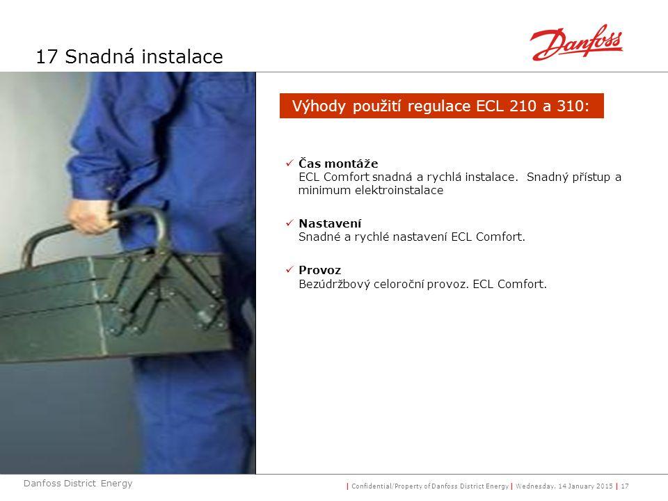 Výhody použití regulace ECL 210 a 310: