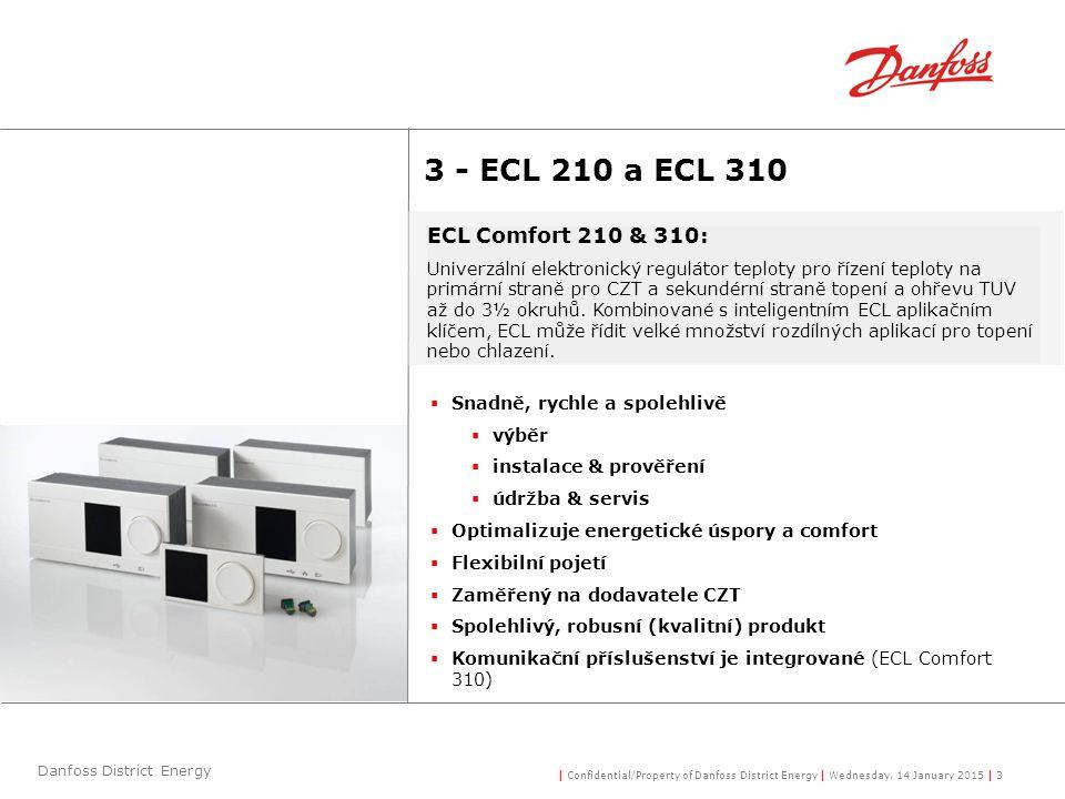3 - ECL 210 a ECL 310 ECL Comfort 210 & 310: